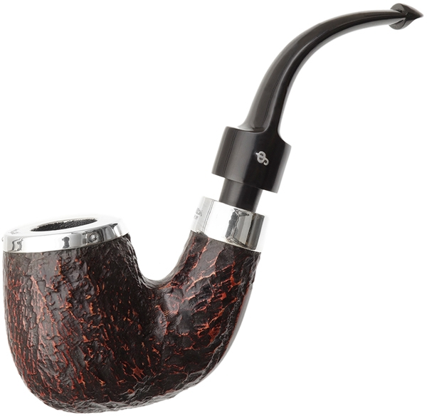 House Pipe Rusticated Silver Cap Bent P-Lip (9mm)