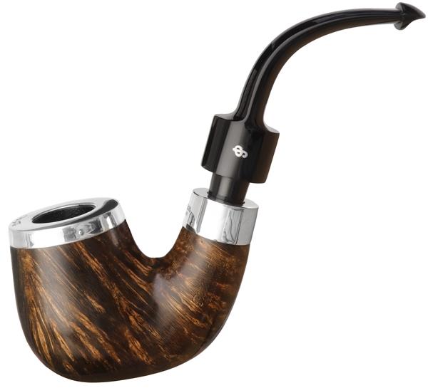 House Pipe Oak Silver Cap Bent P-Lip