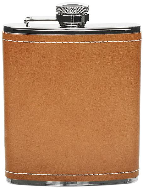 Peterson Flask Tan Leather (6oz)