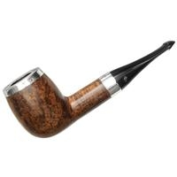 Peterson House Pipe Oak Silver Cap Billiard P-Lip (9mm)