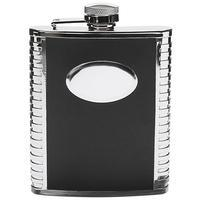 Peterson Flask Black Engine Turned (6oz)